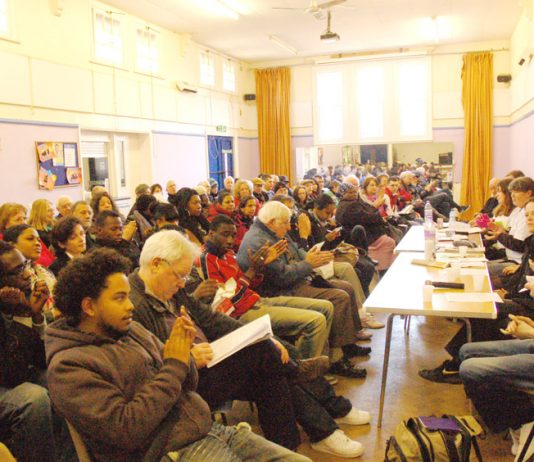 A section of the audience at Saturday's News Line-North East London Council of Action conference in Enfield