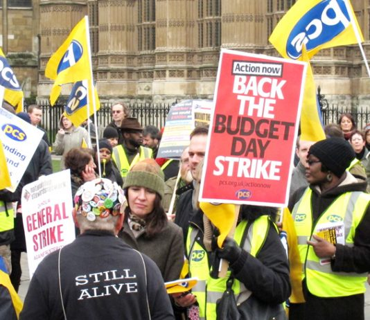 The PCS took strike action on Budget Day and outside the House of Commons its members were very much alive to the issue of a general strike
