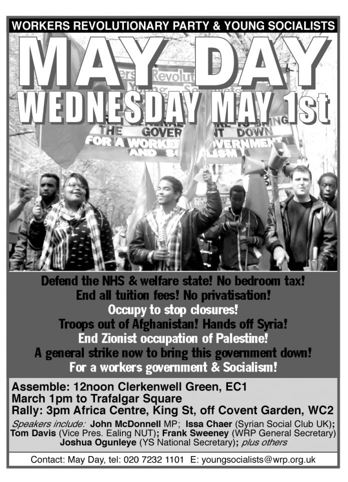 Rally And March On May Day