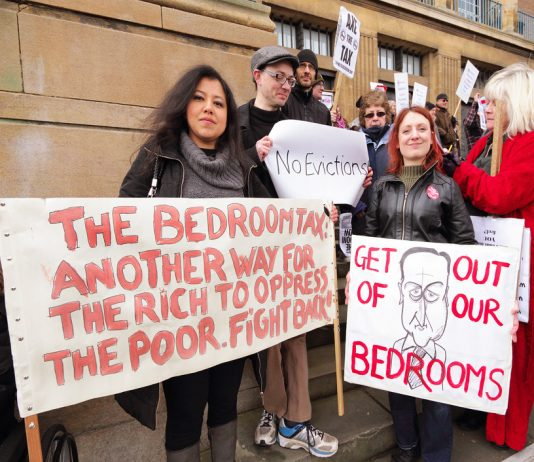 Protest against the Bedroom Tax in Norwich