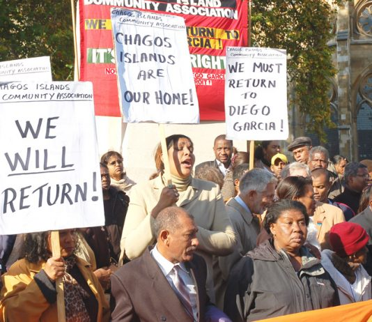 Chagos Islanders lobbied the House of Lords in 2008 over their right of return to the islands from which they were driven