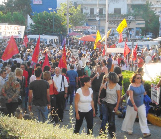 Thousands of workers were in the ERT ground's last Wednesday evening defending the occupation