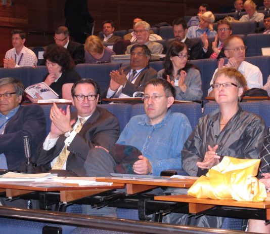 Delegates applaud one of the major speeches at the BMA's Annual Representative Meeting