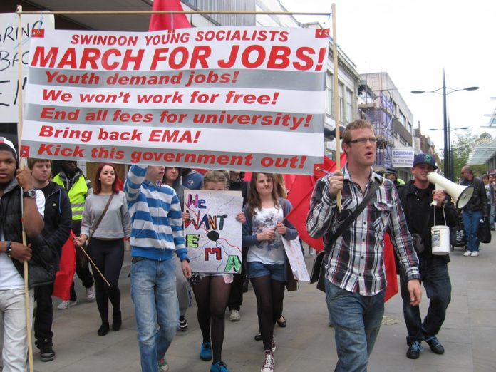 Young Socialists 'March for Jobs' in Swindon