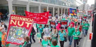 Over two thousand NUT members marched in London in defence of education on June 25th