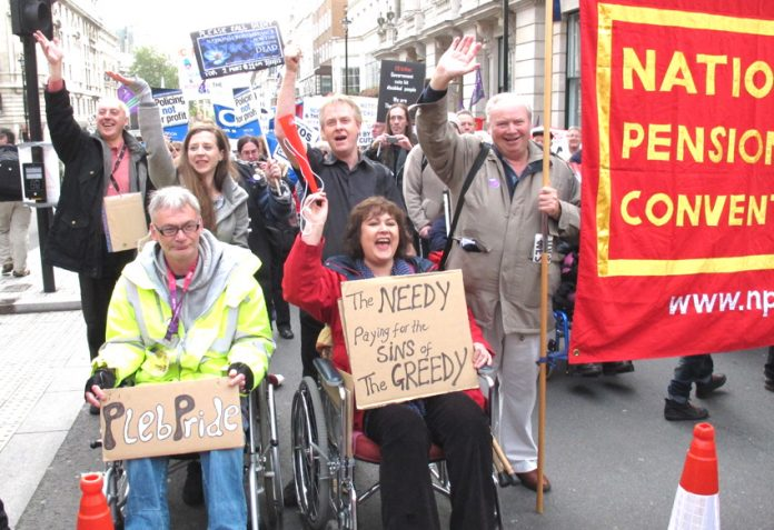 The raising of the pension age hits the most needy says the TUC