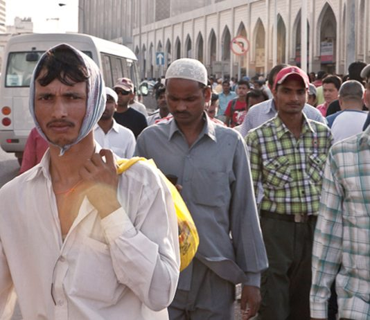 Some of Qatar's over one million migrant workers