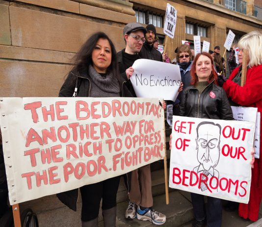 All over the country protests are taking place against the bedroom tax and plans to bring in Universal Credit