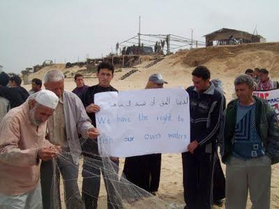 Gaza fishermen protest against Israeli attacks