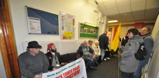 Chase Farm Hospital occupied on February 2nd to stop the closure of the A&E, maternity and paediatrics departments