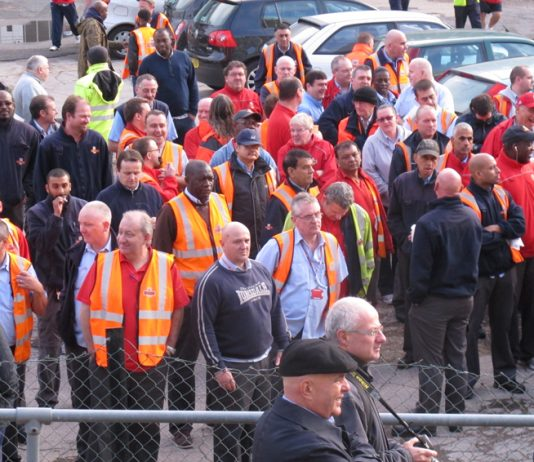 The mass meeting of postal workers at Mount Pleasant heard CWU leader Ward condemn the Labour Party for its treachery