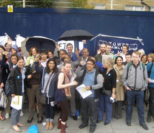 Striking doctors rally outside the Royal London Hospital in Whitechapel in June last year