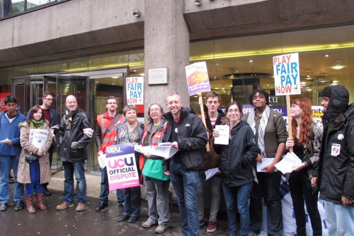 Pickets turned out in force at King's College