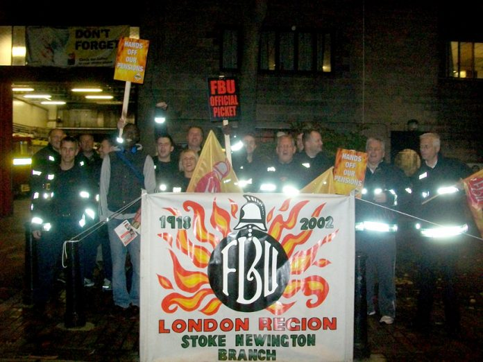 Firefighters stopped work at 6.30pm on Friday at Stoke Newington – they are out again this morning at 6.00am