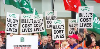 RMT lobby of parliament over rail safety