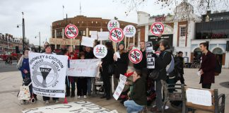 Anti-austerity protest against benefit cuts in Lambeth on Sunday
