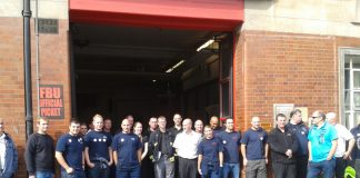 FBU picket line outside Soutwark Fire Station on September 25. Southwark is one of the stations now threatened with closure