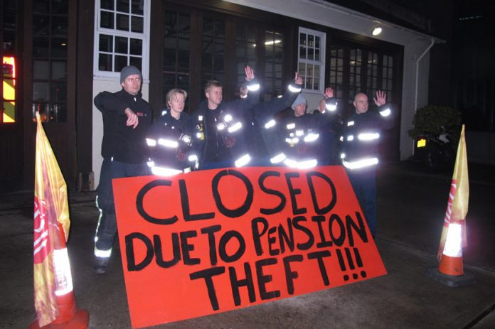 FBU pickets at Euston with a clear message