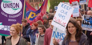 Youth marching in London last May in defence of the NHS