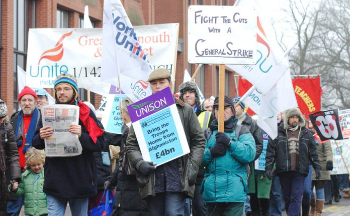 Students, youth and workers march against Tory cuts in Norwich