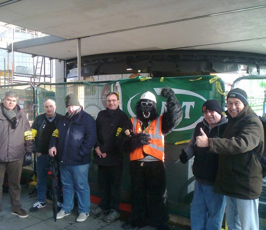 Morale was high on the  picket line at Kings Cross