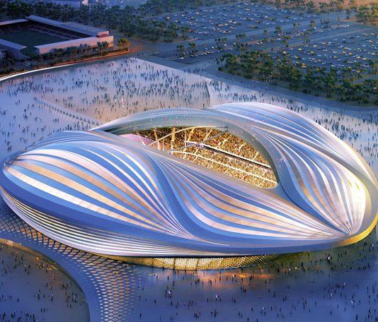 CGI artist's impression of the finished stadium