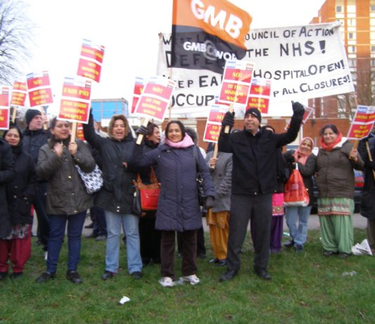 Ealing Hospital workers on their picket line yesterday made clear that they want negotiations for a living wage, sick pay and improved annual leave