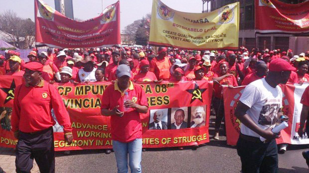 NUMSA workers taking strike action