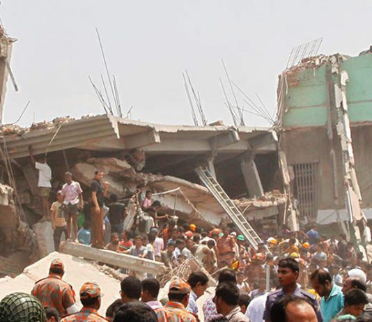 The Rana Plaza building collapse in April last year killed over 1,100 workers