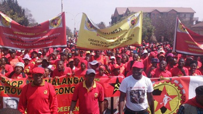 NUMSA members on the march