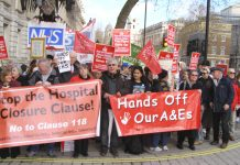 The lobby calling to scrap Clause 118/9 of the Care Bill which will allow health secretary Hunt to close any hospital he chooses