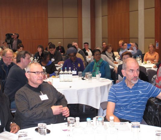 A section of the conference audience