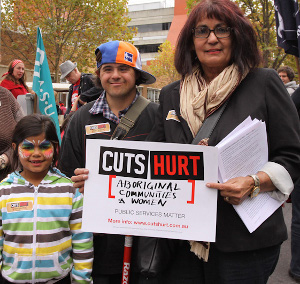 Community and Public Sector Union campaign against cuts