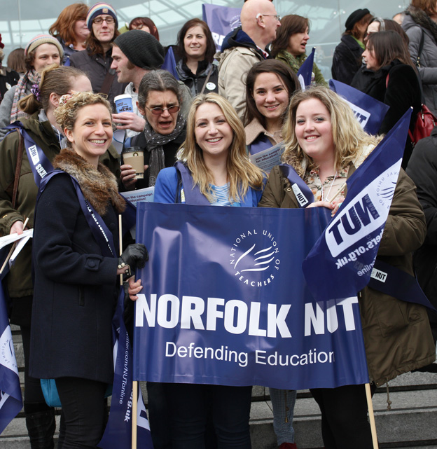 The NUT turned out in force in Norwich