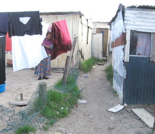 Living conditions for workers in the townships