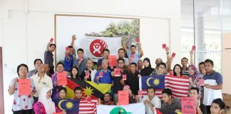 Malaysian trade unionists supporting the Building and Woodworkers International campaign to investigate all Qatar construction deaths