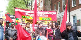 Workers Revolutionary Party and Young Socialists assemble at Clerkenwell Green