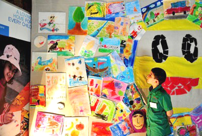 Syrian children expressed their hopes and vision for the future in the 'Little Dreams' art exhibition