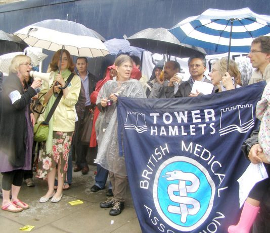 BMA members demonstrate during their national strike in June 2012