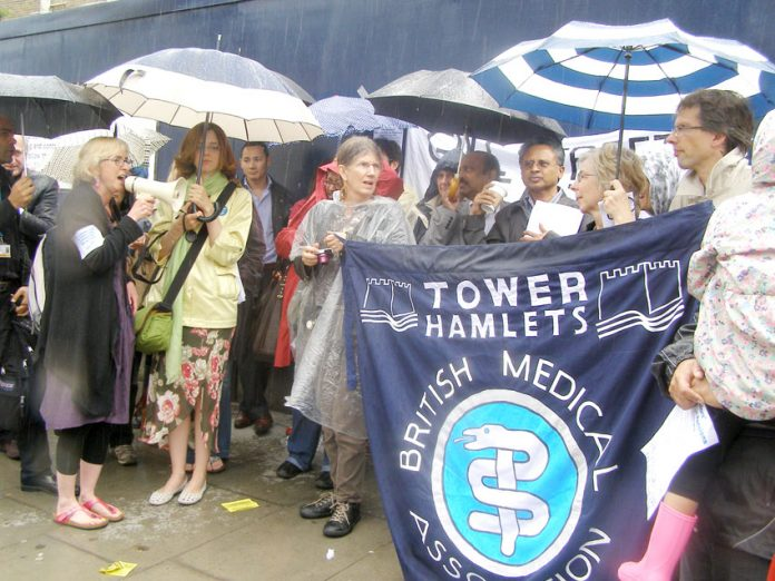 BMA members demonstrate during their national strike in June 2012
