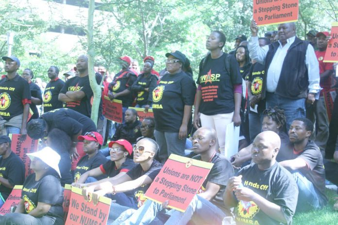 Young NUMSA members lobby COSATU with a clear message