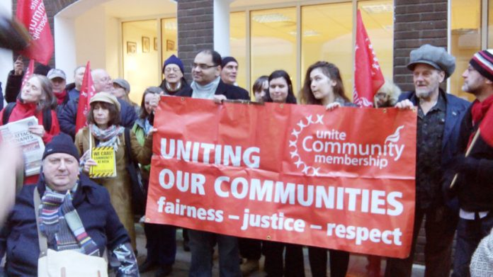 Demonstration against the TV documentary 'Benefits Street' which vilified the poor. The abolition of Council Tax Benefit is driving thousands more into debt