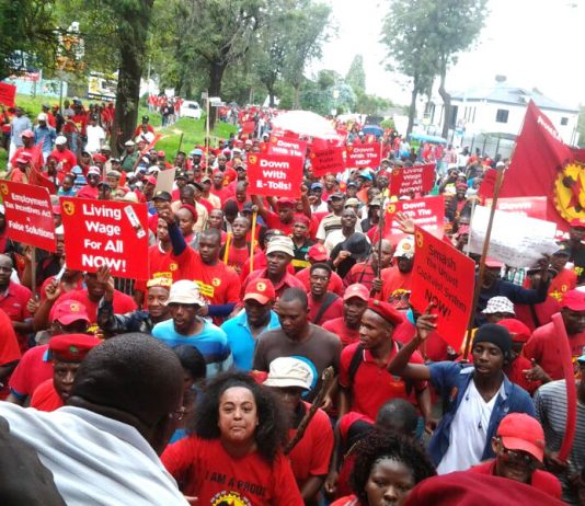 NUMSA strike on the 'Day of Action for Youth Jobs' held across nine regions of South Africa on March 19