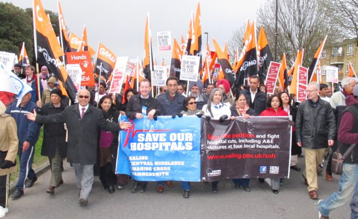Ealing residents demanding that all four local District General Hospitals be kept open