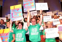 Teachers at the NUT confrence demand Gove's resignation