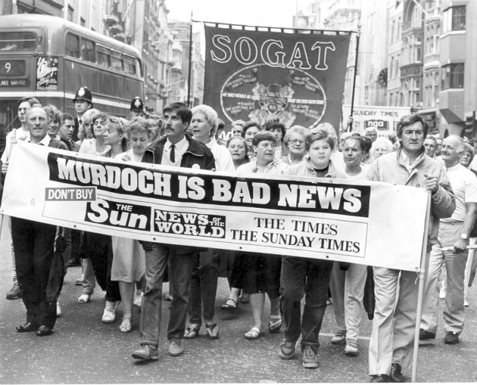 The relationship between the Thatcher government and the Murdoch press was cemented in the big struggles to smash trade unions in the mid 1980s. Other governments continued the pact with the Murdoch empire