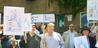 GPs and patients marched through east London in defence of GP surgeries on June 5th