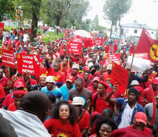Mass NUMSA rally demanding jobs for youth