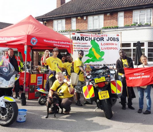 Warwickshire Blood Donors NHS supports march