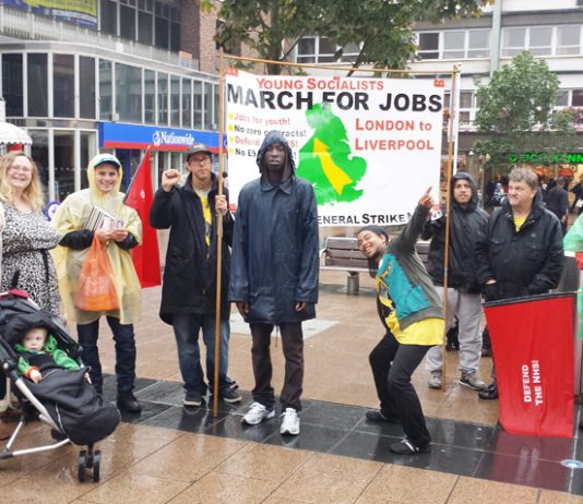 Marchers got a great reception in Coventry city centre from some very generous supporters